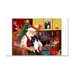 Santa's Bi Black Sheltie Car Magnet 20 x 12