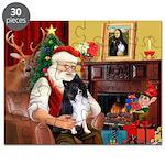 Santa's Bi Black Sheltie Puzzle