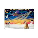 XmasSunrise/Shiba Inu Rectangle Magnet (10 pack)