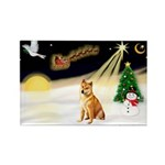 Night Flight/Shiba Inu Rectangle Magnet