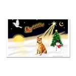 Night Flight/Shiba Inu Rectangle Car Magnet