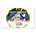 XmasSunrise/Shih Tzu Sticker (Rectangle 50 pk)