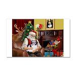 Santa's Shih Tzu (#1) Car Magnet 20 x 12