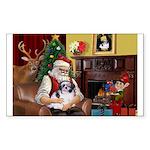 Santa's Shih Tzu (#1) Sticker (Rectangle 10 pk)