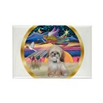 XmasStar/Shih Tzu Rectangle Magnet