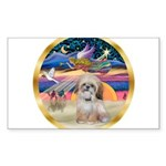 XmasStar/Shih Tzu Sticker (Rectangle 10 pk)