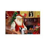 Santa's Sib Husky Rectangle Magnet (10 pack)