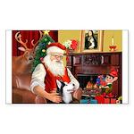 Santa's Sib Husky Sticker (Rectangle)