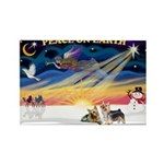 XmasSunrise/2 Silky Ter Rectangle Magnet (10 pack)
