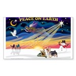 XmasSunrise/2 Silky Ter Sticker (Rectangle 10 pk)