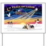 XmasSunrise/2 Silky Ter Yard Sign