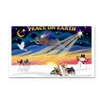 XmasSunrise/2 Silky Ter Rectangle Car Magnet