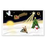 Night Flight/ Silky Ter 14 Sticker (Rectangle 10 p