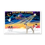 XmasSunrise/Sloughi Rectangle Car Magnet