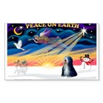 XmasSunrise/Tibet Ter Sticker (Rectangle 10 pk)