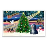 XmasMagic/TibetanTer 5 Sticker (Rectangle 10 pk)