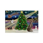 XmasMagic/Weimaraner 2 Rectangle Magnet (10 pack)