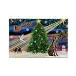 XmasMagic/Weimaraner 2 Rectangle Magnet