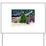 XmasMagic/Weimaraner 2 Yard Sign