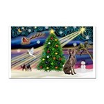XmasMagic/Weimaraner 2 Rectangle Car Magnet