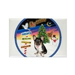 XmasSigns/Corgi Pup (Z) Rectangle Magnet (10 pack)
