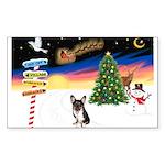 XmasSigns/Corgi Pup (Z) Sticker (Rectangle 50 pk)