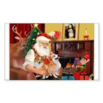 Santa's 2 Corgis (P2) Sticker (Rectangle)