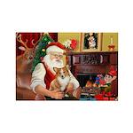 Santa's Corgi (#3P) Rectangle Magnet
