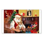 Santa's Corgi (#3P) Sticker (Rectangle 50 pk)