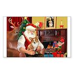 Santa's Corgi (#3P) Sticker (Rectangle 10 pk)