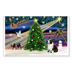 XmasMagic/Corgi (5C) Sticker (Rectangle 50 pk)