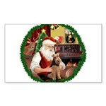 Santa's Welsh T Sticker (Rectangle 50 pk)
