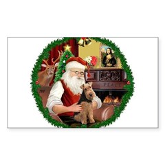 Santa's Welsh T Sticker (Rectangle)