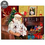 Santa's Westie pair Puzzle