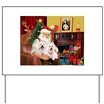 Santa's Westie pair Yard Sign