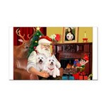 Santa's Westie pair Rectangle Car Magnet