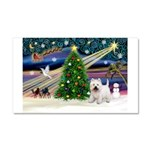 Xmas Magic & Westie Car Magnet 20 x 12