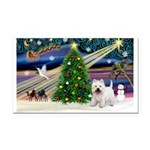 Xmas Magic & Westie Rectangle Car Magnet