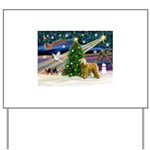 XmasMagic/Wheaten (#2) Yard Sign