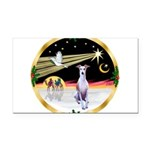 Wisemen/Whippet #8 Rectangle Car Magnet