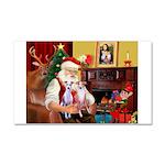 Santa & his 2 Whippets Car Magnet 20 x 12