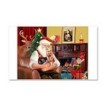 Santa / Yorkie (#9) Car Magnet 20 x 12