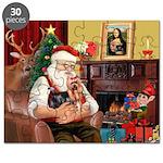 Santa / Yorkie (#9) Puzzle