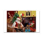 Santa's Yorkie (#11) Car Magnet 20 x 12