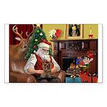 Santa's Yorkie (#11) Sticker (Rectangle 10 pk)