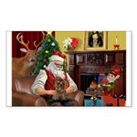 Santa's Yorkie (#11) Sticker (Rectangle)