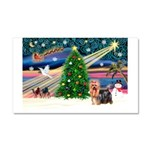 Xmas Magic & Yorkie Car Magnet 20 x 12