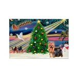 Xmas Magic & Yorkie Rectangle Magnet (10 pack)