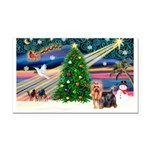 Xmas Magic & Yorkie Rectangle Car Magnet