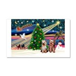 XmasMagic/2 Yorkies Car Magnet 20 x 12